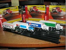 Rel 4 AW Pepsi Mt Dew Ultra G Racing Rigs ( 4 Truck Set ) HO Slot Car Run On AFX