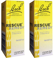 Bach Flower Rescue Remedy Drops 10 Ml  (Paks of 2)