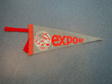Vintage Montreal Canada Expo 67 Pennant
