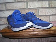 NIKE FREE RUN 2 BLUE NAVY MENS 12 USED WORN HARD SMOOTH  see photos-details