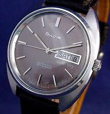 Bulova vintage 1977 Swiss automatic ss watch with new matched leather strap