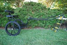 """EZ Entry Pony/Cob Cart W/60""""-72"""" Curved Shafts W/21"""" Motorcycle Tires"""