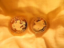 "2 MINT COINS  - ""WWF SILVER CONSERVATION COINS – MONGOLIA"