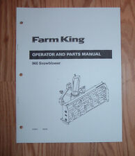 FARM KING SNOW THROWER OPERATOR AND PARTS LIST MANUAL