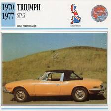 1970-1977 TRIUMPH STAG Classic Car Photo/Info Maxi Card