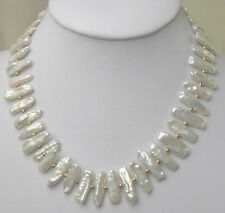 Charme weiße biwa Süßwasser-kultivierten Perlenkette 50MM