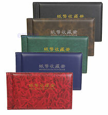 Paper Money Pocket Wallet Currency Banknote Collection Album for 30 Notes Pages