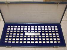 WORLD'S GREAT SHIPS SILVER INGOT BAR SET OF 100 PCS FRANKLIN MINT COMPLETE RARE