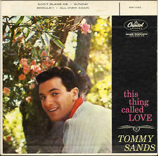 """TOMMY SANDS """"THIS THING CALLED LOVE"""" 50'S EP CAPITOL EAP-1 -1123"""