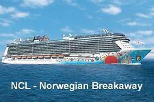 SOUVENIR FRIDGE MAGNET of CRUISE SHIP NORWEGIAN BREAKAWAY - NORWEGIAN CRUISE LIN