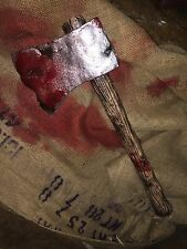 Lizzie Borden Halloween Weapon Foam Bloody Safe Axe Prop Gory Decoration Cosplay