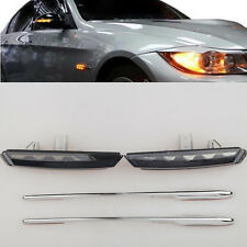 LED Smoke Side Marker Lights Turn Signals For BMW E90 E91 E92 E93 E81 E88 E60
