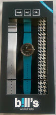 BILL'S WATCH ADDICT PKADD05 INTERCHANGEABLE STRAPS BNIB WARRANTY B!LL'S WATCHES