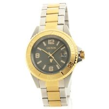 CA301252TTGY Croton Mens Stainless Steel & IP Gold Date NewWatch