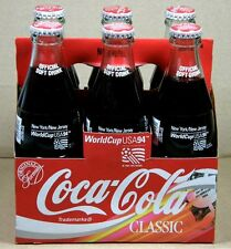 1994 COCA-COLA World Cup Soccer NEW YORK/NEW JERSEY 6 Full Bottles, Carrier