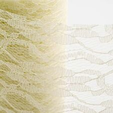 "6""x10yards Lace Net Roll Runner Mesh Chair Sash Ties Wedding Party Table Decor"
