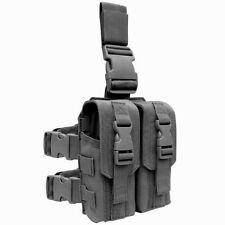 Condor MA65 BLACK Drop Leg 5.56mm .223cal Mag Pouch MOLLE Rig Rifle Magazine