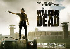 "The Walking Dead 1 2 3 4  TV Zombie Fabric poster 17"" x 13"" Decor 62"