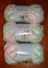 Bernat Pipsqueak Yarn Lot Of 3 Skeins (Candy Girl #59415)