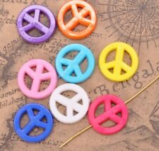 160pcs Mixed Acrylic Peace Sign spacer Findings Beads Charms 15MM