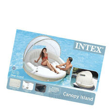 Intex Canopy Island Inflatable Lounge Two (2) Person Floating Raft w Shade 58292
