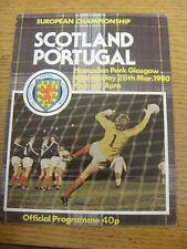 26/03/1980 scotland/portugal [à hampden park] (plié). objet semble être en