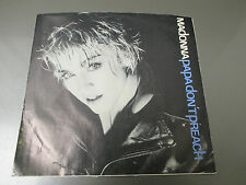 """1986 MADONNA – Papa Don't Preach 7"""" 45 Picture Sleeve EX/VG+ SIRE 7-28660"""