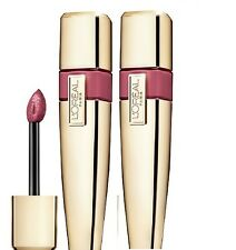 2X LOREAL COLOUR CARESSE WET SHINE LIP STAIN - LILAC EVER AFTER #185 - Lot of 2