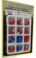60PC Crimp-On Insulated Electrical Wire Connectors Terminals Assorted Type Sizes