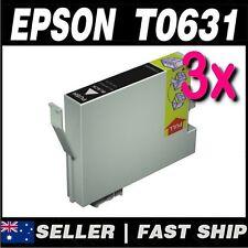 3x Black T0631 Compatible Ink for PRINTER C67 C87 CX3700 CX4100 CX4700 CX5700F