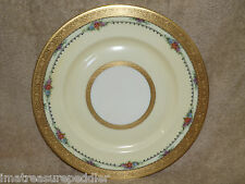 """PICKARD HEINRICH & Co GOLD ENCRUSTED Flowers Charger Dinner Plate  10 7/8"""""""