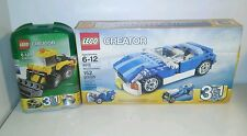 Lego creator 3 in 1 set blue roadster 6913 and 5761 mini digger