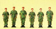 Soldaten stehend Barett Flecktarnung Preiser Figuren 16841 Spur HO Zubehör