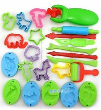 23 Pieces Color Play Dough Model Tool Toys Creative 3D Plasticine Tools Set