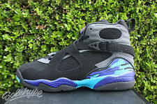 NIKE AIR JORDAN 8 RETRO VIII GS 6 Y BRIGHT CONCORD AQUA FLINT GREY 305368 025