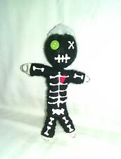 Authentic Voodoo doll Black bones 7 pins guide karma new orleans hoodoo string