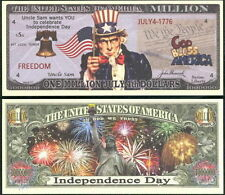 Independence Day 4th July Million Dollar Novelty Collector Bill Note