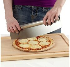 Stainless Steel Pizza Cutter Slicer Chopper Roller Sharp Knife Mince Vegetable 1