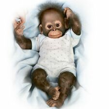 Realistic Baby Monkey Doll: Baby Zachary 14'  by Ashton Drake New NRFB