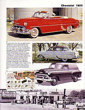 1953 Chevy + Convertible + Sedan Delivery + Corvette Article - Must See !!