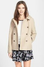 New Coffee Shop Junior's Light Brown/ Small/ Double Breasted A-line Peacoat