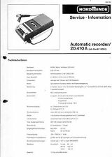 Nordmende Service Manual für automatic recorder 20.410 A