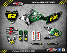 Kawasaki KLX 110 - 2010 / 2017 Full  Custom Graphic  Kit - GRAFFITI STYLE decals