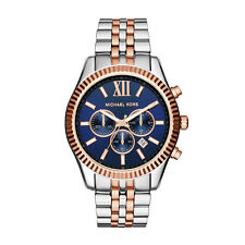 Michael Kors MK8412 Lexington Chronograph Navy Dial Two tone Unisex Wrist Watch