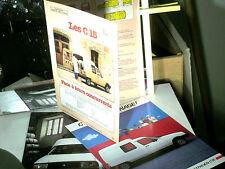 RARES DOCUMENTS CITROEN C15 ARGUMENTAIRE VENDEUR 1984/85 DEPLIANTS LANCEMENTS)