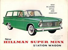 Hillman Super Minx Series I Station Wagon 1962 Canadian Market Sales Brochure