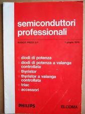 Listino Prezzi Semiconduttori Professionali PHILIPS ELCOMA 1970  [GS50]