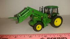 1/64 CUSTOM JOHN DEERE 4755 TRACTOR & LOADER HAY BALE FORK SPEAR ERTL FARM TOY