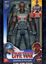 MARVELS FALCON ((( TALKING )) ACTION FIGURE CAPTAIN AMERICA: CIVIL WAR (IN HAND)