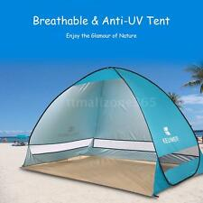 BLUE POP UP TENT BABY SHELTER UV PROTECTED SUN SHADE BEACH GARDEN OUTDOOR O9G3